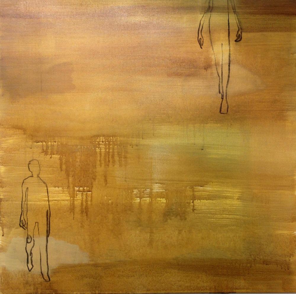 Før, Acryl på lerret, 70 x 70 - solgt