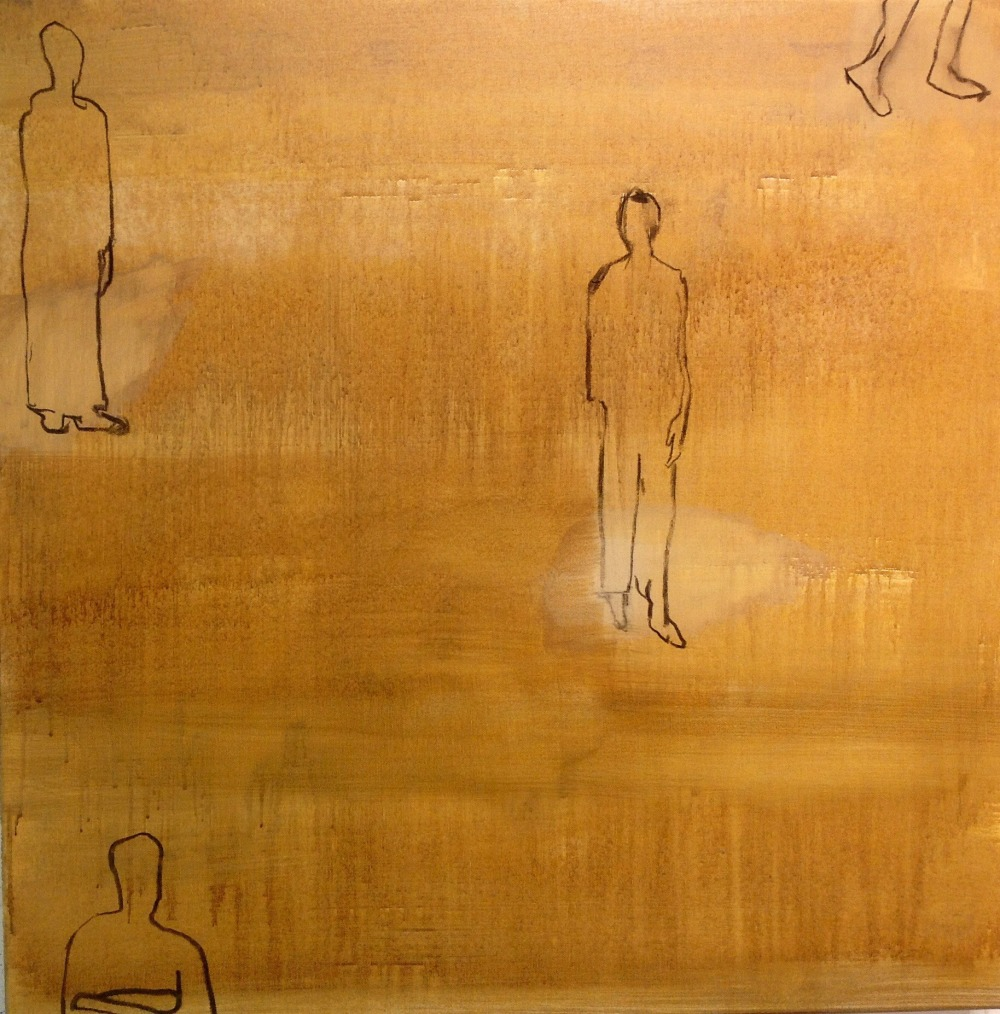 Etter, Acryl på lerret, 70 x 70 - solgt
