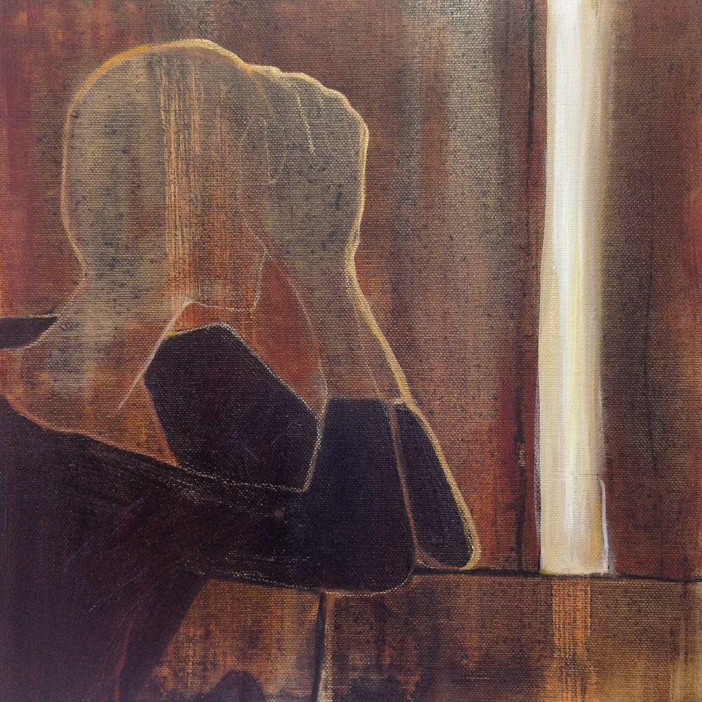 Der lyset slipper inn - Acryl på lerret, 30 x 30cm - solgt