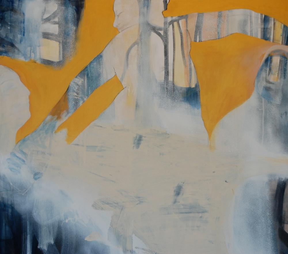 Allegory of love, Acryl på lerret, 100 x 100 - solgt