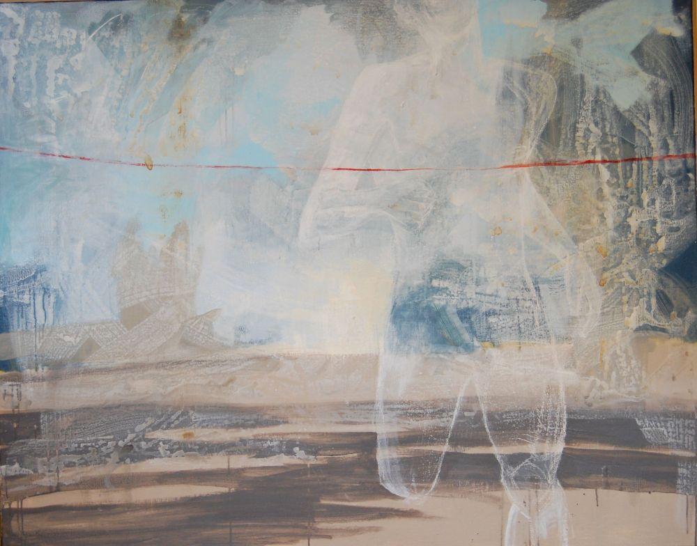 Løperen, Acryl på lerret, 150 x 120 - solgt