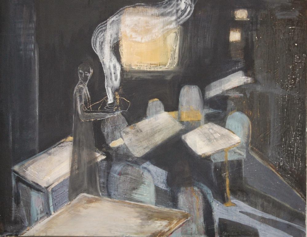 Cafévertens hemmelighet - Acryl på lerret,  80 x 100 cm