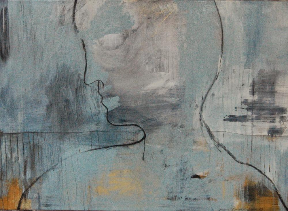 Månelys, Acryl på lerret, 60 x 70 - solgt