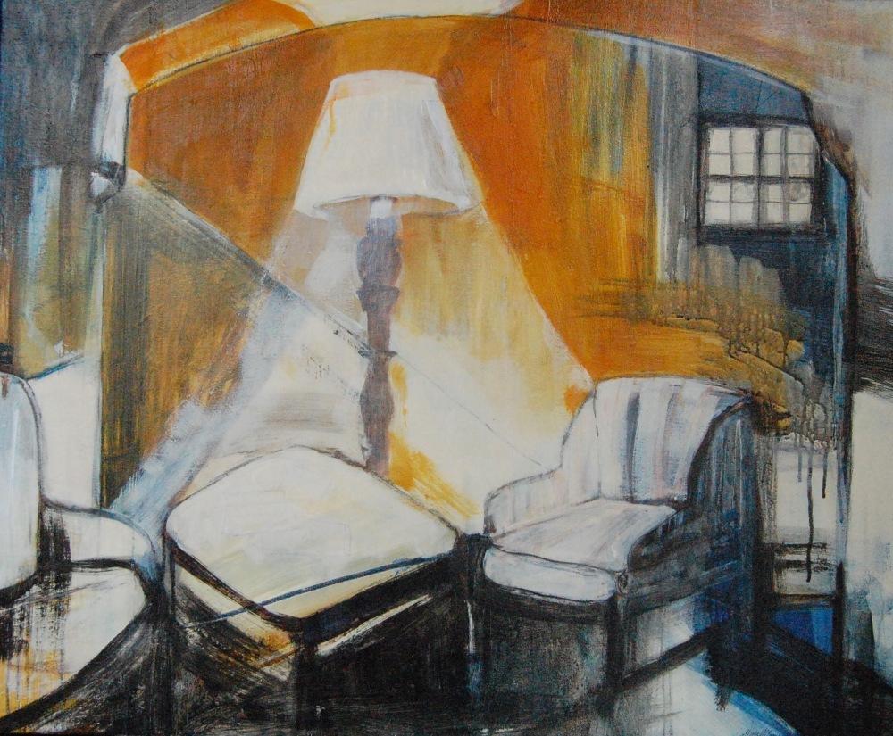 Agatha Christies lenestol - Acryl på lerret, 40 x 50 cm