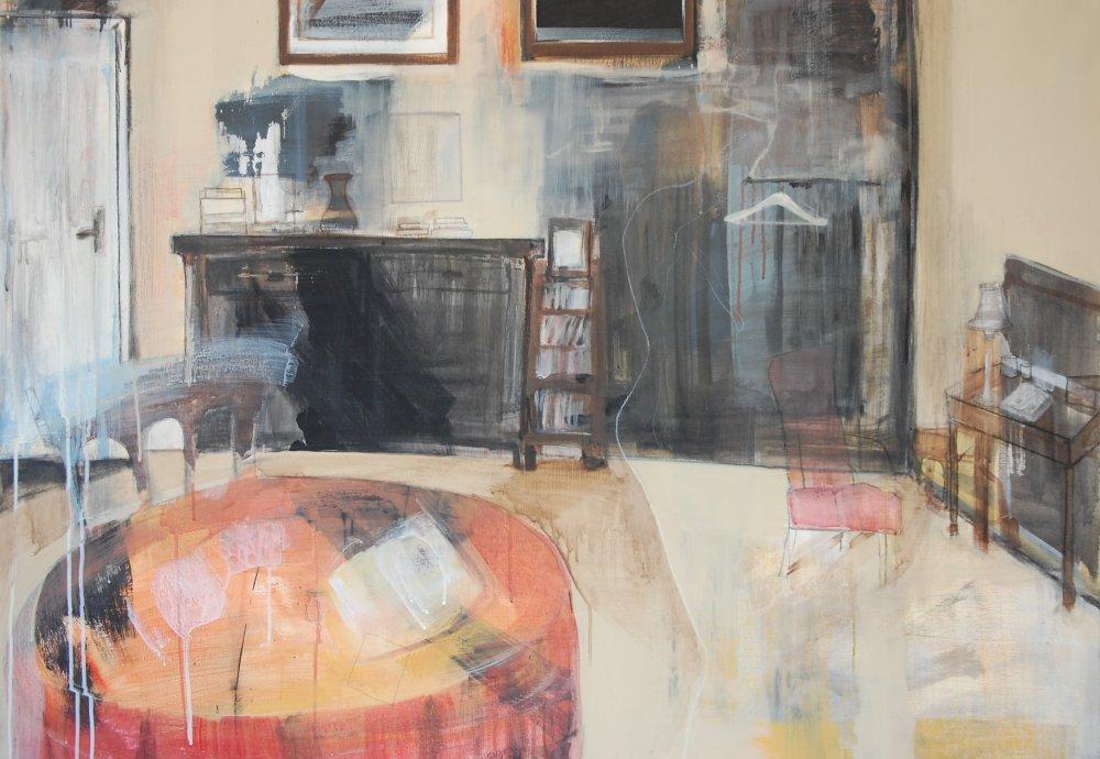 Poetens trøst, Acryl på lerret, 120 x 100 - Innkjøpt av Fredrikstad Kommune