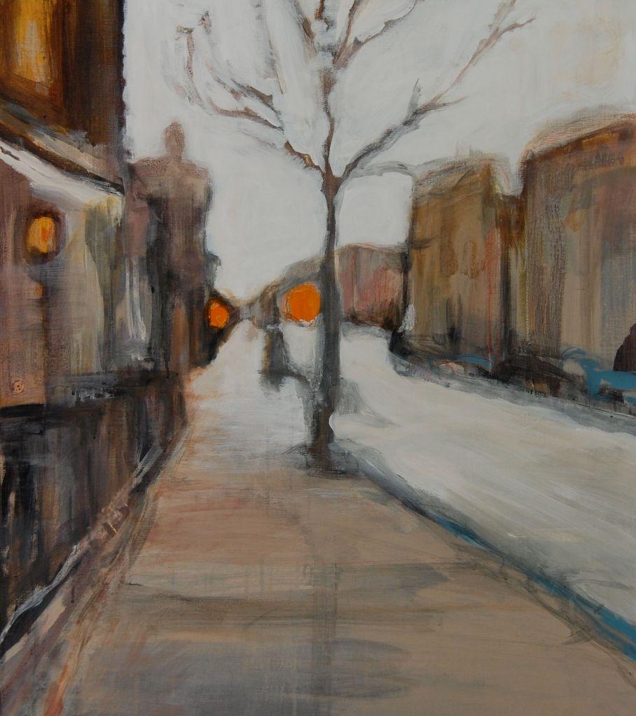 Streetlife, Acryl på lerret, 60 x 80- solgt