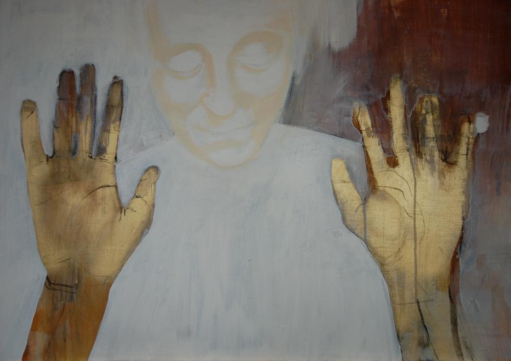Tocar el tiempo, Acryl på lerret, 50 x 40 - solgt
