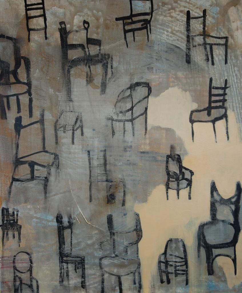 Stolene, Acryl på lerret, 60 x 70 - solgt