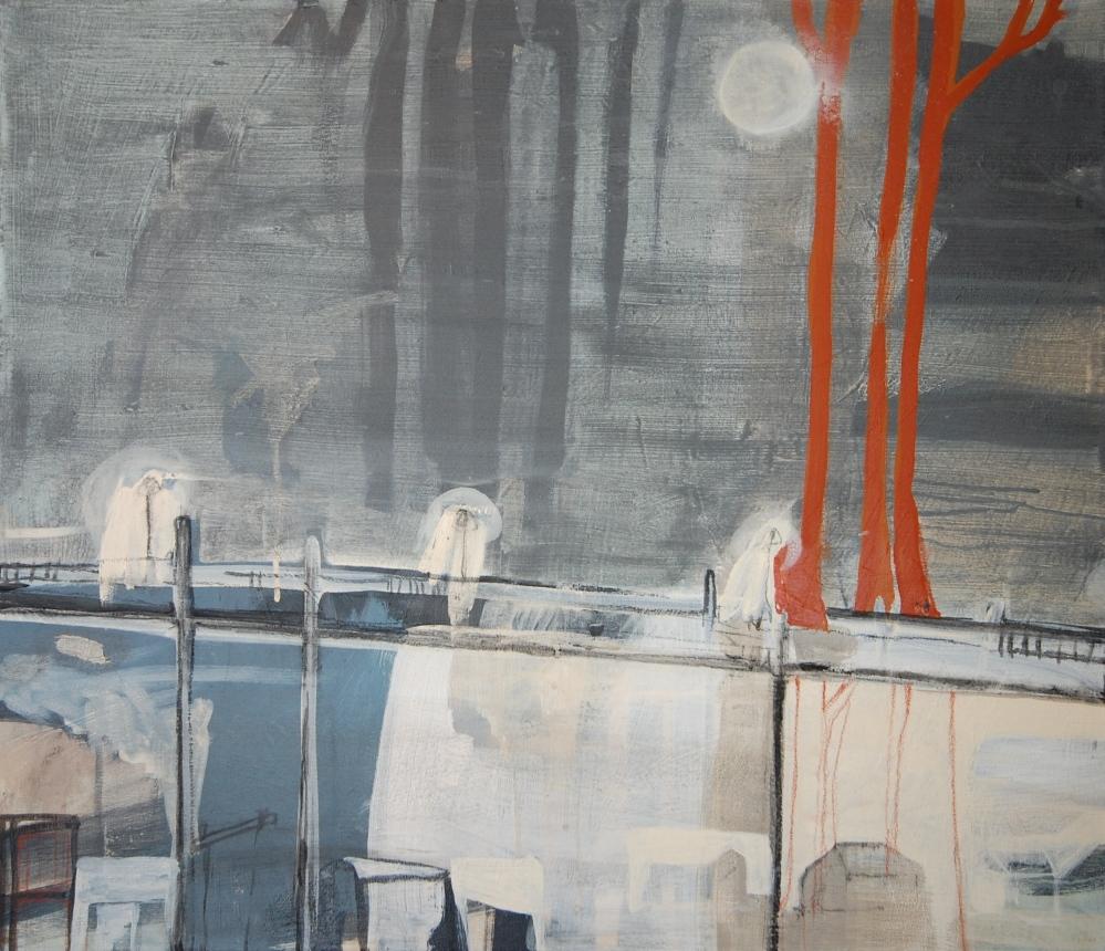 Bro, Acryl på lerret, 60 x 70 - solgt