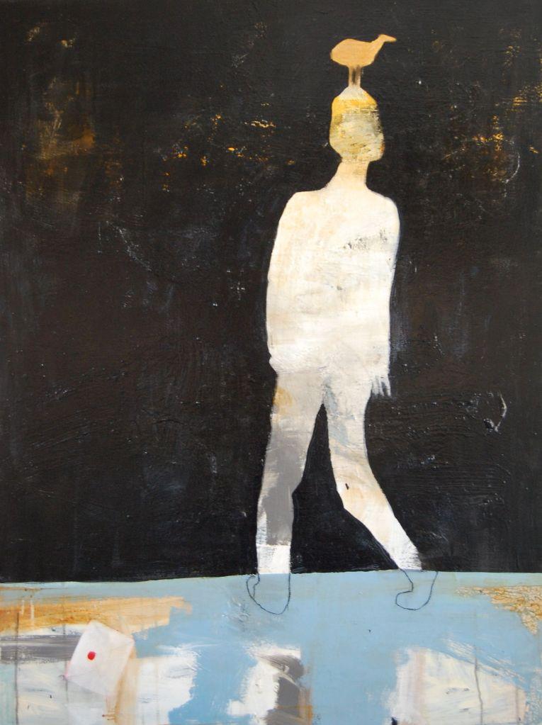 Tankefugl, Acryl på lerret, 90 x 120 - solgt